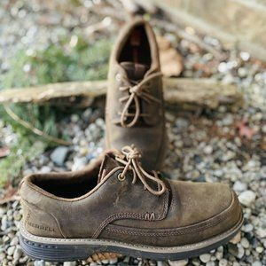 Merrell Grip Men Brown Leather Lace Up Shoes 7